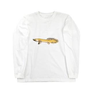 ポリプテルス Long sleeve T-shirts
