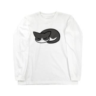 猫ちゃん(ハチワレ) Long sleeve T-shirts
