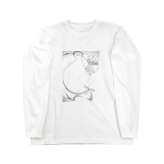 薔薇とピエロ Long sleeve T-shirts
