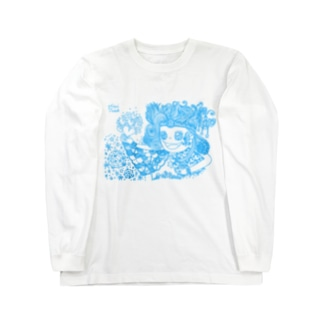 愛と感謝 水色 Long sleeve T-shirts