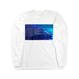 ウツボ可愛い Long sleeve T-shirts
