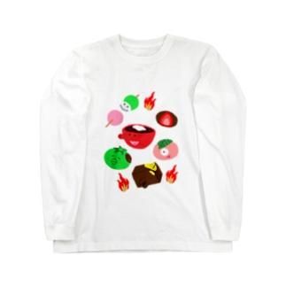 和菓子妖怪🍡アップ Long sleeve T-shirts