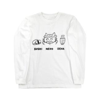 SUSHI NEKO OCHA Long sleeve T-shirts