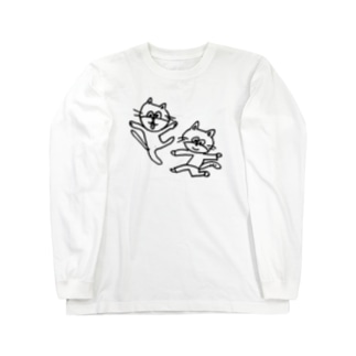 ねこレンジャー Long sleeve T-shirts