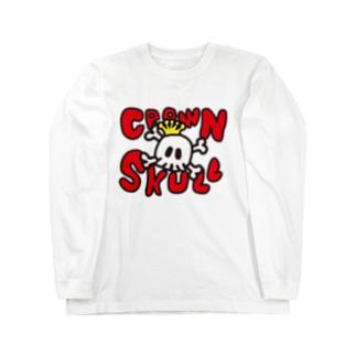 CROWN SKULL Long sleeve T-shirts