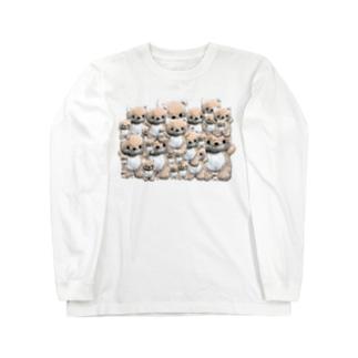 きつねのぬいぐるみ コンちゃん Long sleeve T-shirts