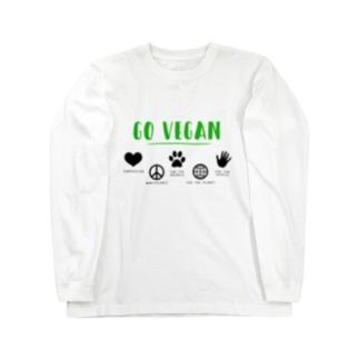 GO VEGAN - ロンT A Long sleeve T-shirts