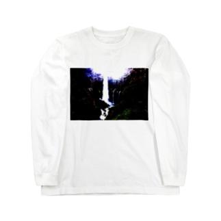 華厳の滝 Long sleeve T-shirts
