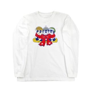 るりんごむのりぼんぺんぎん Long sleeve T-shirts