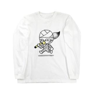 コッピーくん Long sleeve T-shirts