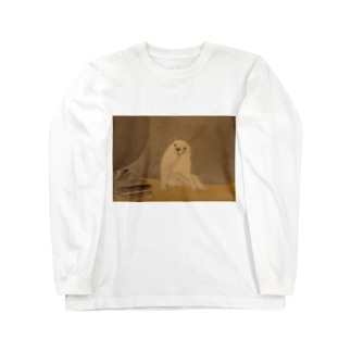 むかしの絵の犬 Long sleeve T-shirts