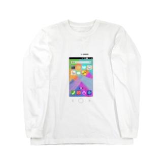 どこにでもスマホ Long sleeve T-shirts