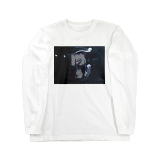 ソフトクリーム工場の波と水母 Long sleeve T-shirts
