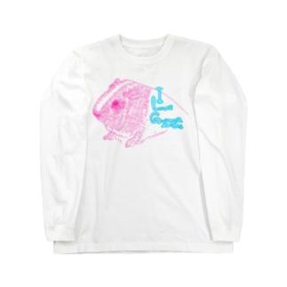 ピンクモルモット Long sleeve T-shirts