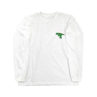 恐竜がおがお Long sleeve T-shirts