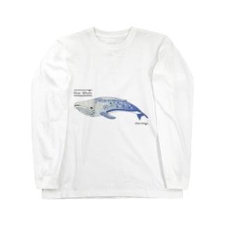 夢見るシロナガスクジラ Long sleeve T-shirts