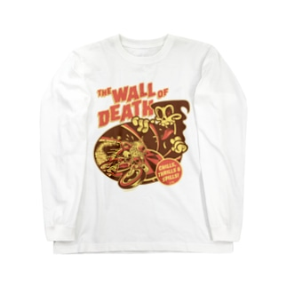 the Wall of Death : Brown / Orange  Long sleeve T-shirts