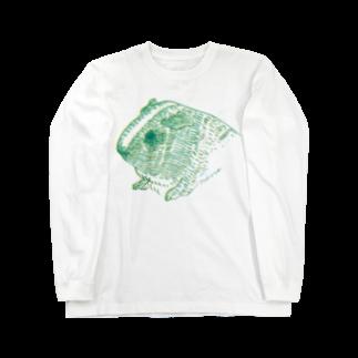 nins・にんずの緑と黄色のモルモット Long sleeve T-shirts