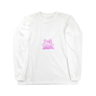 ピンク Long sleeve T-shirts