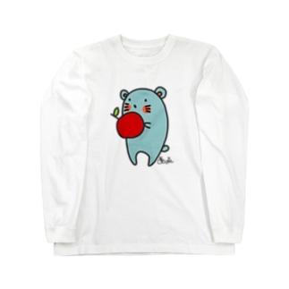 りんごを食べるねずねず Long sleeve T-shirts