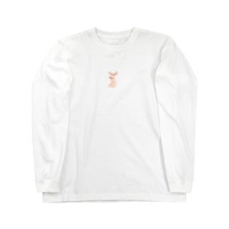 リボンを巻いたチワワ Long sleeve T-shirts