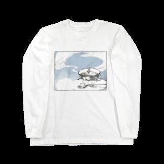 物部書房の『拡がる』 Long sleeve T-shirts
