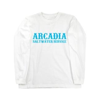 ARCADIA SALTWATER SERVICE BLUE Type2 Long sleeve T-shirts