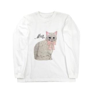 ミニョンヌさんちのにゃんこ Long sleeve T-shirts