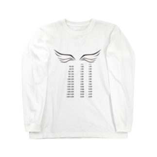 wlmのPOINTS WING Long sleeve T-shirts