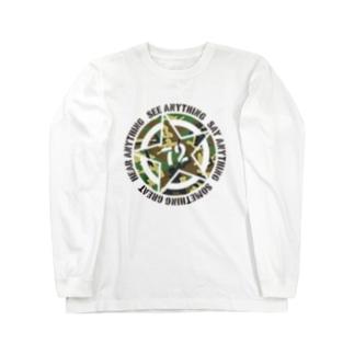 Something Great ANYTHING(Woodland Camo) Long sleeve T-shirts