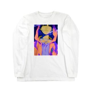 ネオンピンク Long sleeve T-shirts