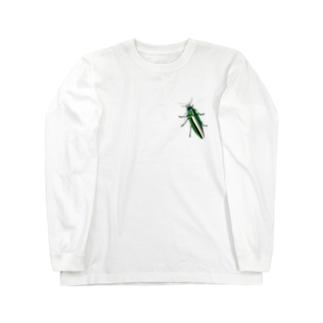 いたずらデザイン(ちょっとタマムシついてますよ) Long sleeve T-shirts