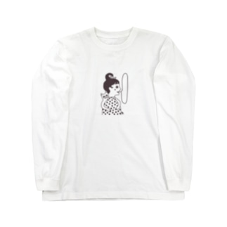 ネコと乙女 Long sleeve T-shirts
