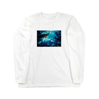 鯉 和風 Long sleeve T-shirts