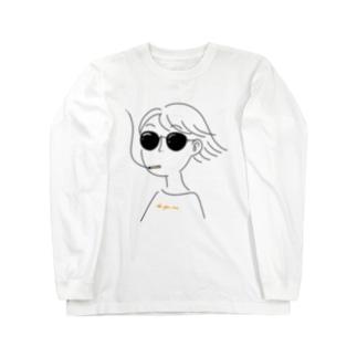 風を感じるぜ Long sleeve T-shirts