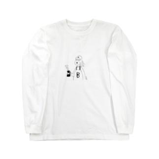 B子のコーヒー Long sleeve T-shirts