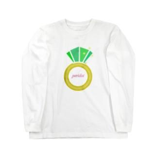 誕生石シリーズ(8月・ペリドット) Long sleeve T-shirts