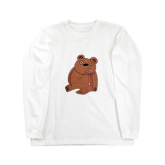 ダメなくまさん Long sleeve T-shirts