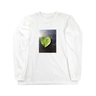 ハート葉っぱ Long sleeve T-shirts