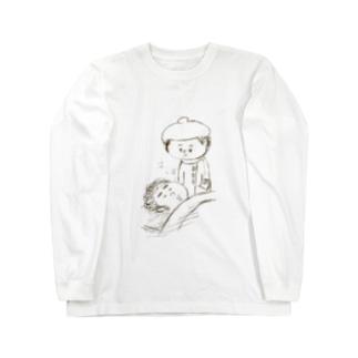 寝てる夫 Long sleeve T-shirts