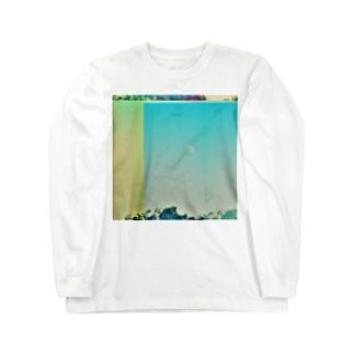 月と飛行機 Long sleeve T-shirts