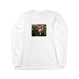 夜のチューリップ Long sleeve T-shirts