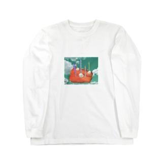 お刺身のおケーキ Long sleeve T-shirts