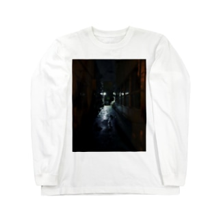 夜の細道 Long sleeve T-shirts