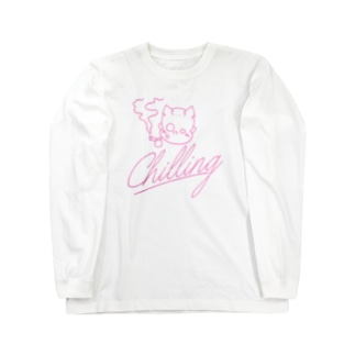 chilling DEVL(pinky) Long sleeve T-shirts