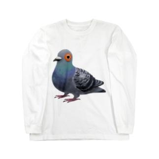 あなたの心に鳩 Long sleeve T-shirts
