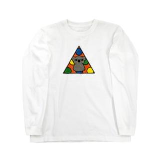 イノセントな目のコアラ Long sleeve T-shirts