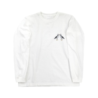 ニシツノメドリ/パフィン 求婚 Long sleeve T-shirts