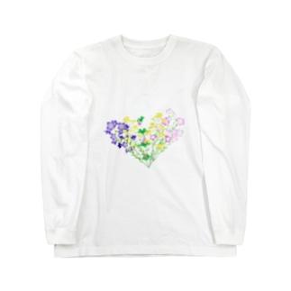 七草でハート Long sleeve T-shirts