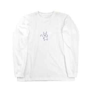 照れるうさぎ Long sleeve T-shirts